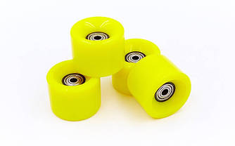 Колеса для пенниборда (скейтборда penny)  (60х45 мм) 4 шт полиуретан с подшипниками