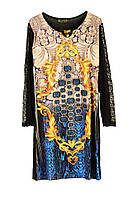 Платье турецкое с вставками сеткой