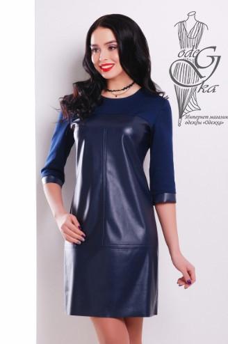Подобные платья-1 Женского платья из эко-кожи Эдита-3