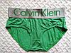 Женские трусики-слипы Calvin Klein steel, зеленые