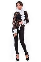 Блуза «Абель» Черно-белый S, L, M
