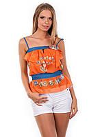 Блуза-топ «Мидина» Оранжевый монета M