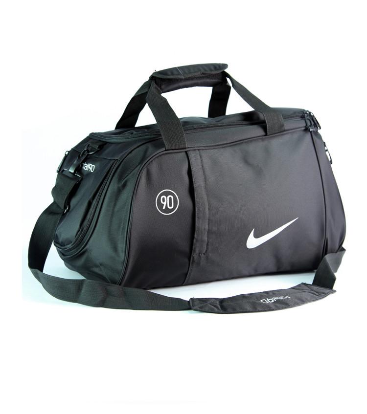 eeded675e19a Спортивная сумка Nike черная с среблистым логотипом (реплика) -  Интернет-магазин оригинальных кепок