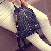 Жіночий рюкзак міський чорного кольору, фото 1