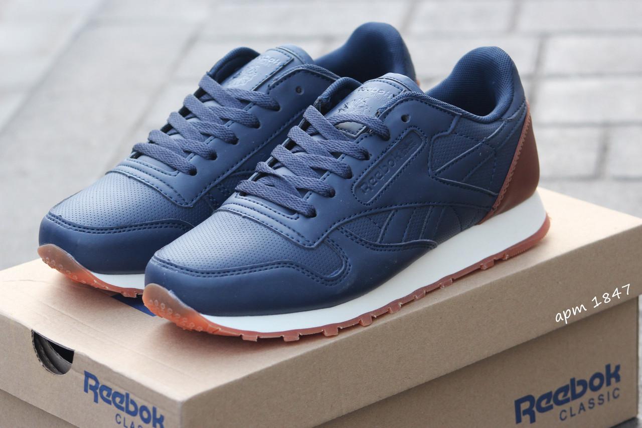 Подростковые кроссовки Reebok темно синие,36