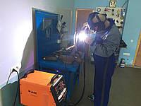 Аргонная сварка сот радиатора и трубок автокондиционера.