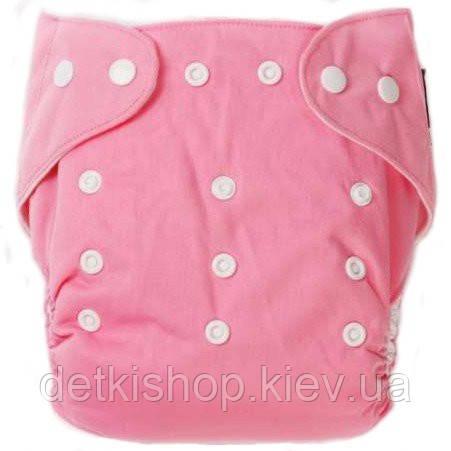 Многоразовый подгузник (розовый)