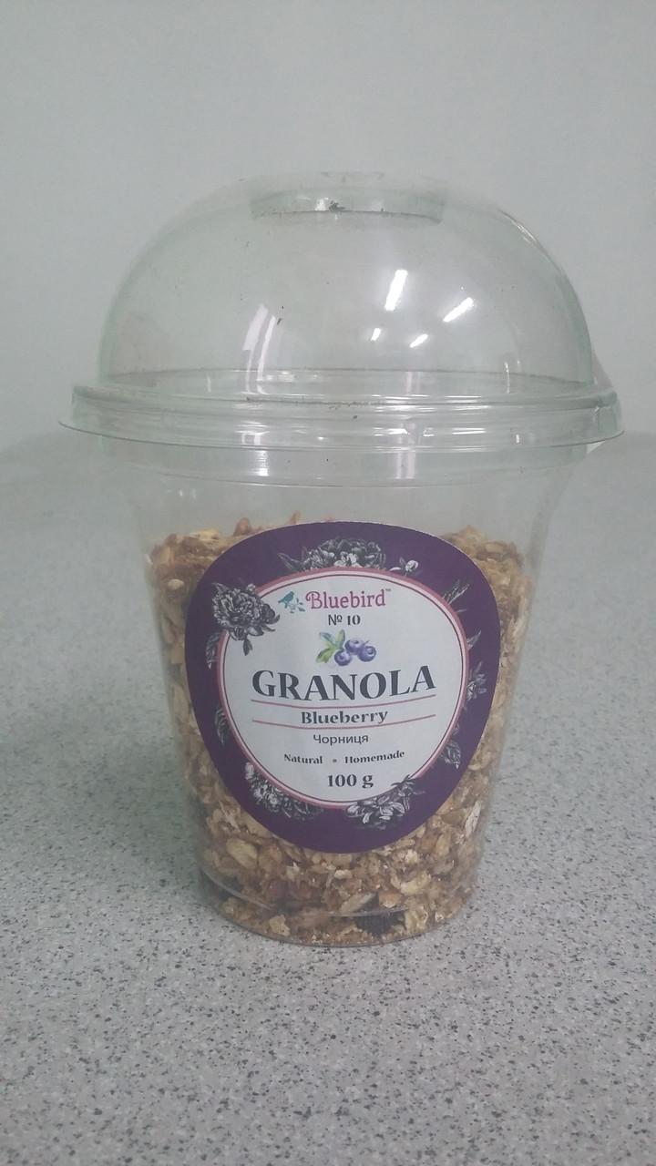 """Гранола """"Черника"""" в стакане 100 гр"""