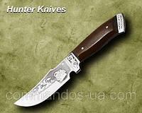 Нож охотничий. Рукоять - кавказский орех.