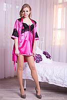 Красивый комплект ночная рубашка с халатом