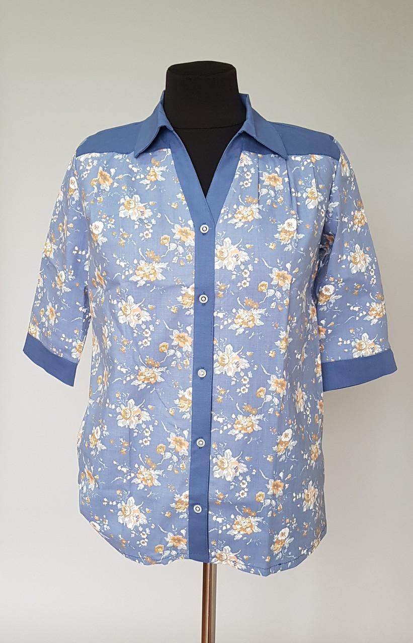 Блуза женская с цветочным принтом