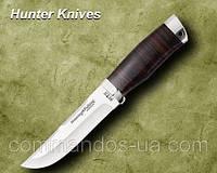 Нож охотничий. Рукоять - наборная кожа.