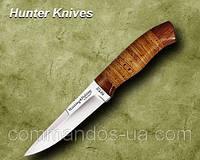 Нож охотничий. Рукоять - береста, дерево