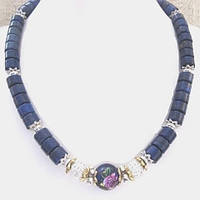 Колье, браслет, серьги - натуральный афганский лазурит