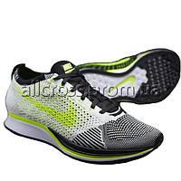 Кроссовки Nike Flyknit Racer Volt Black White