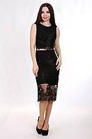 Enigma P 0832 Коктейльное платье в виде топа без рукавов и юбки из гипюра