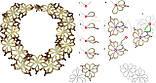 Плетение из бисера  Ожерелье+кольцо'Сакура' (Ка-01-10), фото 7