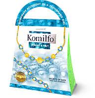 Плетение из бисера  Ожерелье+браслет голубой (Ка-01-11)