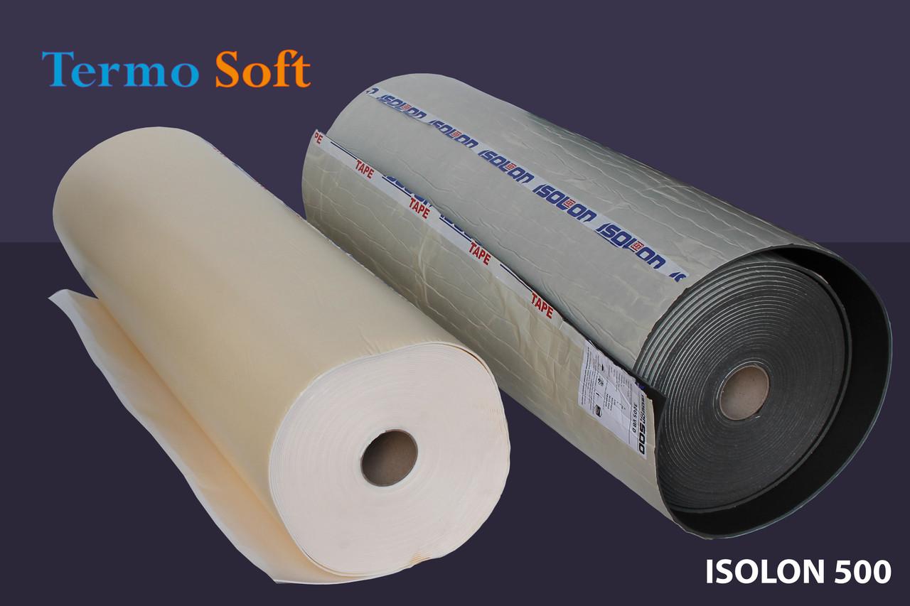 Материал для теплоизоляции и шумоизоляции.Вспененный полиэтилен Isolontape, Изолон ППЭ 3010 самоклеющийся-10мм