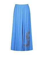 Женская длинная юбка полусолнце из легкой турецкой ткани, размеры от 46 по 64.