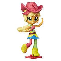 Май литл пони мини-кукла Девушки Эквестрии Эпл Джек шарнирная с микрофоном. Оригинал Hasbro