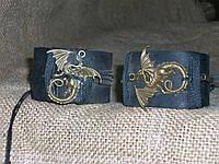 Парные браслеты из кожи ДРАКОН СМАУГ (Игры престолов), ручная работа