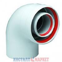 Коаксиальный изгиб BAXI 90°, диаметр 125/80, для конденсационных котлов BAXI и WESTEN