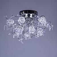 Люстра с галогенными лампочками и элементами хрусталя P5-Y0681/13 CH/LOW
