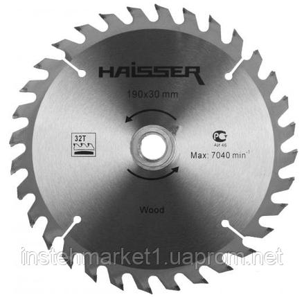 Диск пильный Haisser 190х30 24 зуб по дереву, фото 2