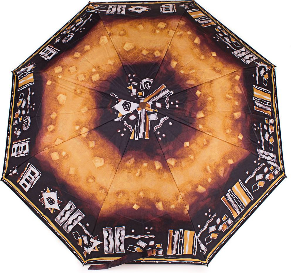 Женский зонт полуавтомат AIRTON Z3635-6 коричневый