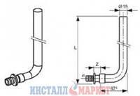 Трубка для подключения радиатора, Г-образная 16 х 15 х 330мм