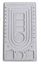 Доска планшет для сборки бус браслетов 41х23 см 3 ряда