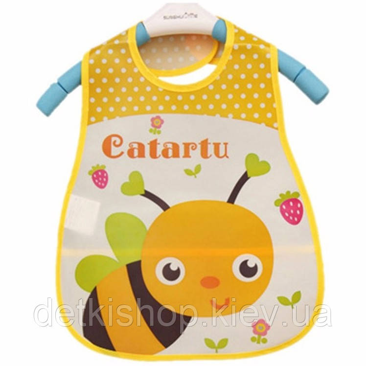 Слюнявчик с карманом «Пчёлка» (PEVA)