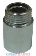 Удлинитель 1/2 х 80 мм хромированный