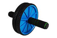 Ролик для пресса Hop-Sport blue в дом и спортзал