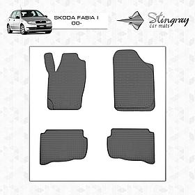 Коврики резиновые в салон Skoda Fabia I 2000-2007 (4шт) Stingray 1020154