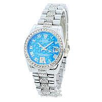 Наручные часы Rolex B61 Full Pave Silver/Blue