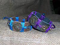 Морские кожаные браслеты РОЗА ВЕТРОВ для двоих, на подарок ручная работа