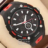 Брендовые наручные часы O.T.S 8026 Black\Red