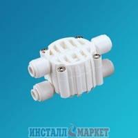 Четырёхходовой клапан для систем обратного осмоса - 4 x 1/4 шланг - соединение JG