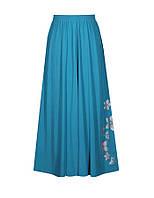 Длинная женская юбка солнце-клеш от обычных до больших размеров из легкой ткани на лето.