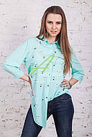 Женская весенняя блузка с бусинками от производителя 2017 - (код бл-103)
