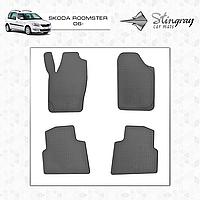 Коврики резиновые в салон Skoda Roomster с 2006 (4шт) Stingray