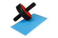 Ролик для пресса Hop-Sport red в дом и спортзал