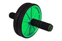 Ролик для пресса Hop-Sport green в дом и спортзал