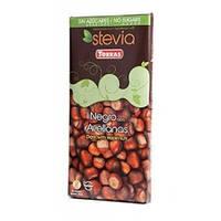 Шоколад темный Torras Stevia Negro Avellanas, с фундуком без сахара 125 г