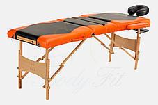 Массажный стол BodyFit, 4 сигментный,деревянный, фото 2