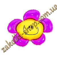 """Фольгированные воздушные шары FLEXMETAL Испания, модель 902548, форма:мини-фигура Цветок, 14""""/32см X 14""""/32см,"""
