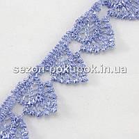 Кружево макраме с кордом Код:1714-5, ширина 1,5см (цена за 9,5ярдов).Цвет - голубой