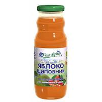 Детский Сок Яблоко-Шиповник органический, 200 мл., ТМ Fleur Alpine